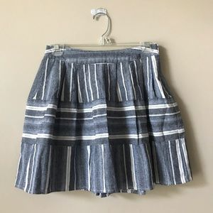 JOA Los Angeles Chambray Pleated Skirt